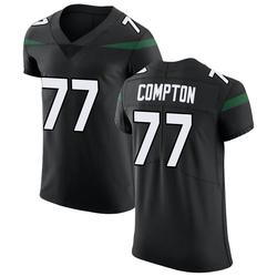 Elite Men's Tom Compton New York Jets Nike Vapor Untouchable Jersey - Stealth Black