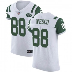 Elite Men's Trevon Wesco New York Jets Nike Vapor Untouchable Jersey - White