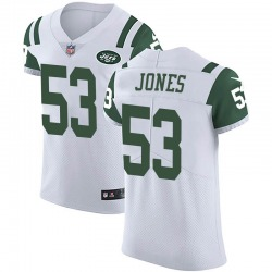 Elite Men's Tyler Jones New York Jets Nike Vapor Untouchable Jersey - White