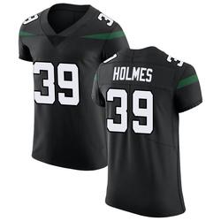Elite Men's Valentine Holmes New York Jets Nike Vapor Untouchable Jersey - Stealth Black