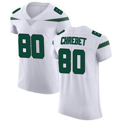 Elite Men's Wayne Chrebet New York Jets Nike Vapor Untouchable Jersey - Spotlight White