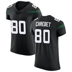 Elite Men's Wayne Chrebet New York Jets Nike Vapor Untouchable Jersey - Stealth Black