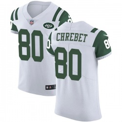 Elite Men's Wayne Chrebet New York Jets Nike Vapor Untouchable Jersey - White