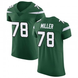 Elite Men's Wyatt Miller New York Jets Nike Vapor Untouchable Jersey - Gotham Green