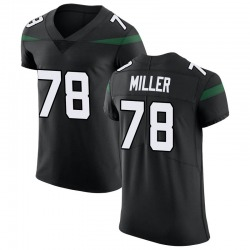 Elite Men's Wyatt Miller New York Jets Nike Vapor Untouchable Jersey - Stealth Black