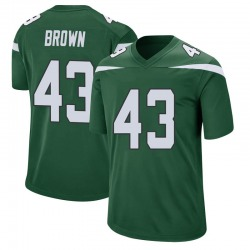 Game Men's Alex Brown New York Jets Nike Jersey - Gotham Green