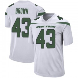 Game Men's Alex Brown New York Jets Nike Jersey - Spotlight White