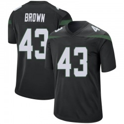 Game Men's Alex Brown New York Jets Nike Jersey - Stealth Black