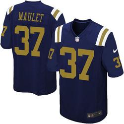 Game Men's Arthur Maulet New York Jets Nike Alternate Jersey - Navy Blue