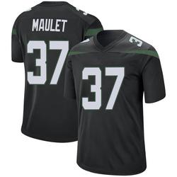 Game Men's Arthur Maulet New York Jets Nike Jersey - Stealth Black