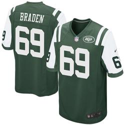 Game Men's Ben Braden New York Jets Nike Team Color Jersey - Green