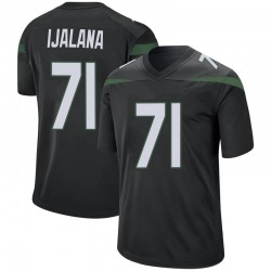 Game Men's Ben Ijalana New York Jets Nike Jersey - Stealth Black
