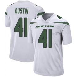 Game Men's Blessuan Austin New York Jets Nike Jersey - Spotlight White