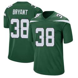Game Men's Brandon Bryant New York Jets Nike Jersey - Gotham Green