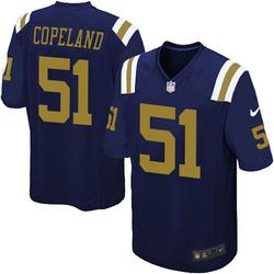 Game Men's Brandon Copeland New York Jets Nike Alternate Jersey - Navy Blue