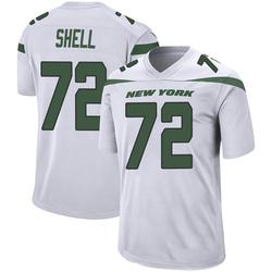 Game Men's Brandon Shell New York Jets Nike Jersey - Spotlight White