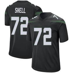 Game Men's Brandon Shell New York Jets Nike Jersey - Stealth Black