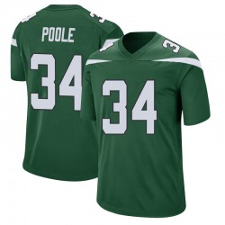 Game Men's Brian Poole New York Jets Nike Jersey - Gotham Green
