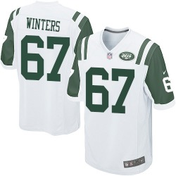 Game Men's Brian Winters New York Jets Nike Jersey - White