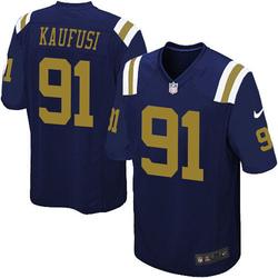 Game Men's Bronson Kaufusi New York Jets Nike Alternate Jersey - Navy Blue