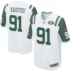 Game Men's Bronson Kaufusi New York Jets Nike Jersey - White