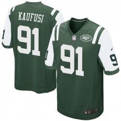 Game Men's Bronson Kaufusi New York Jets Nike Team Color Jersey - Green