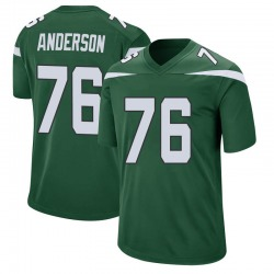 Game Men's Calvin Anderson New York Jets Nike Jersey - Gotham Green