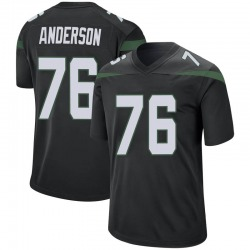 Game Men's Calvin Anderson New York Jets Nike Jersey - Stealth Black