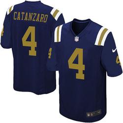 Game Men's Chandler Catanzaro New York Jets Nike Alternate Jersey - Navy Blue