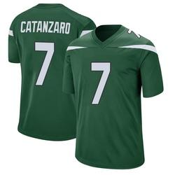 Game Men's Chandler Catanzaro New York Jets Nike Jersey - Gotham Green
