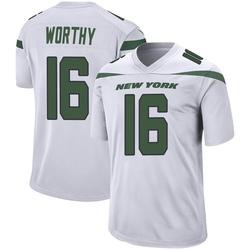Game Men's Chandler Worthy New York Jets Nike Jersey - Spotlight White