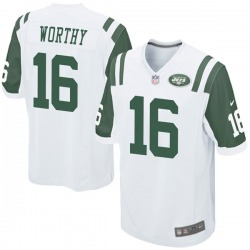 Game Men's Chandler Worthy New York Jets Nike Jersey - White