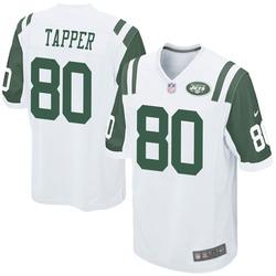 Game Men's Charles Tapper New York Jets Nike Jersey - White