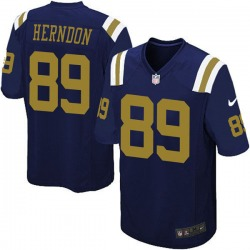 Game Men's Chris Herndon New York Jets Nike Alternate Jersey - Navy Blue