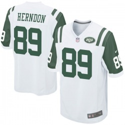 Game Men's Chris Herndon New York Jets Nike Jersey - White