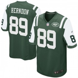 Game Men's Chris Herndon New York Jets Nike Team Color Jersey - Green