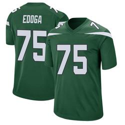 Game Men's Chuma Edoga New York Jets Nike Jersey - Gotham Green