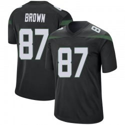 Game Men's Daniel Brown New York Jets Nike Jersey - Stealth Black