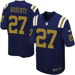 Game Men's Darryl Roberts New York Jets Nike Alternate Jersey - Navy Blue