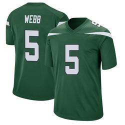 Game Men's Davis Webb New York Jets Nike Jersey - Gotham Green