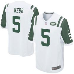 Game Men's Davis Webb New York Jets Nike Jersey - White