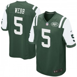 Game Men's Davis Webb New York Jets Nike Team Color Jersey - Green