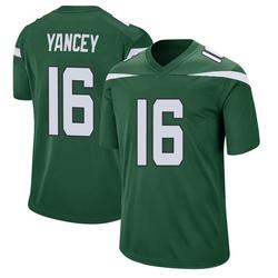 Game Men's DeAngelo Yancey New York Jets Nike Jersey - Gotham Green