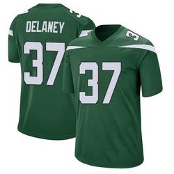 Game Men's Dee Delaney New York Jets Nike Jersey - Gotham Green