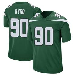 Game Men's Dennis Byrd New York Jets Nike Jersey - Gotham Green