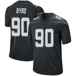 Game Men's Dennis Byrd New York Jets Nike Jersey - Stealth Black