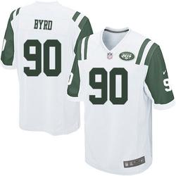Game Men's Dennis Byrd New York Jets Nike Jersey - White
