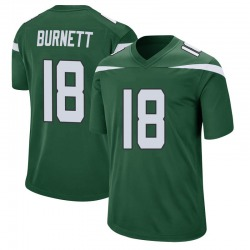 Game Men's Deontay Burnett New York Jets Nike Jersey - Gotham Green