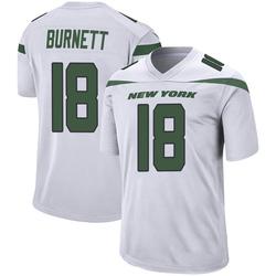 Game Men's Deontay Burnett New York Jets Nike Jersey - Spotlight White