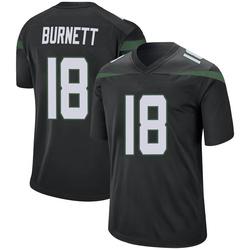 Game Men's Deontay Burnett New York Jets Nike Jersey - Stealth Black